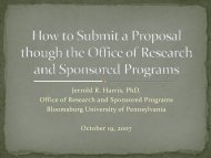 Jerrold R. Harris, PhD. Office of Research and Sponsored Programs ...