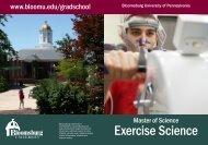 Exercise Science - Bloomsburg University