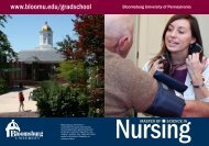 Nursing - Bloomsburg University