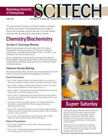 Chemistry/Biochemistry Super Saturday - Bloomsburg University