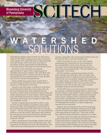 Watershed Solutions - Bloomsburg University