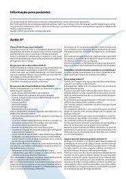 Informação para pacientes Acido-X® - Axapharm