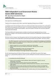 Submission to the NSW Local Government Review - Independent ...