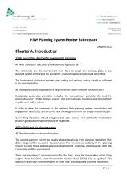 Submission to the Review of Planning in NSW - David Shoebridge ...