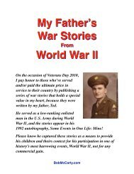 Dads WWII Stories - Bob McCarty Writes