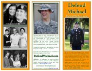 Unofficial Defend Michael Brochure - Bob McCarty Writes