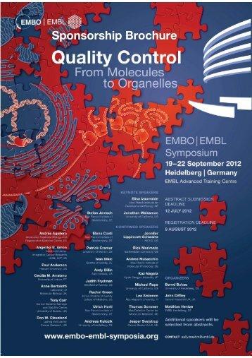Download sponsorship brochure for Quality Control - EMBO I EMBL ...