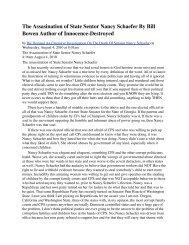 The Assasination of State Sentor Nancy Schaefer By Bill Bowen ...