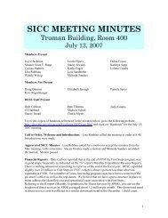SICC MEETING MINUTES - Bob McCarty Writes