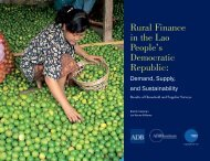 Rural Finance in the Lao People's Democratic ... - X-Eye Design