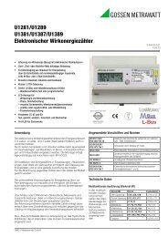 U1281/U1289 U1381/U1387/U1389 Elektronischer Wirkenergiezähler