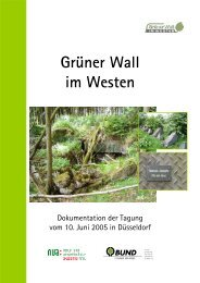 Tagungsband, Dokumentation der Tagung - Grüner Wall im Westen