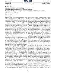Dirk Schumann Eingangs dieses Buches steht der Brand ... - ArtHist