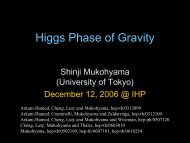 Higgs Phase of Gravity in String Theory - LUTh