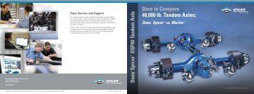 Spicer® DSP40 Tandem Axle - Dare to Compare