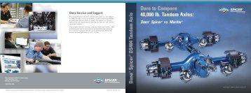 Spicer DS404 Tandem Axle - Dare to Compare