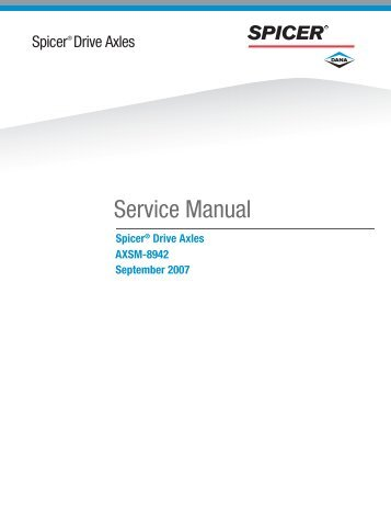 Spicer Drive Axles Service Manual
