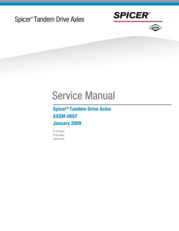 Spicer Tandem Drive Axles Service Manual