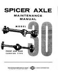 Spicer Axle Maintenance Manual Model 30