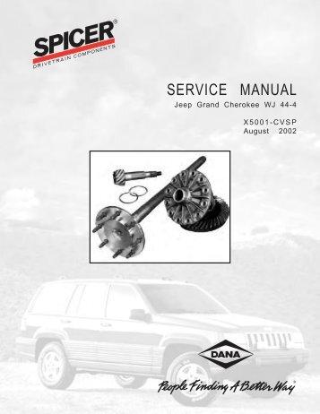 SERVICE MANUAL Jeep Grand Cherokee WJ 44-4 - Spicer