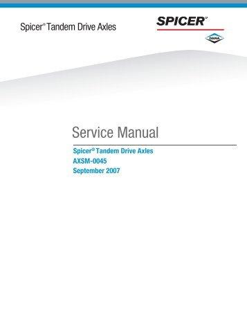 Service Manual - Spicer