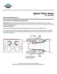 TPCS Air Seal Replacement - Spicer