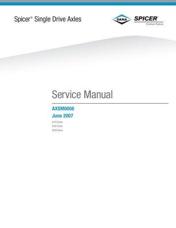 Spicer Single Drive Axles Service Manual