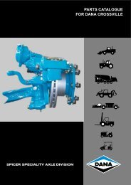 parts catalogue for dana crossville-off hwy - Spicer