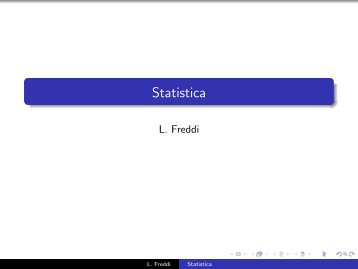 Statistica descrittiva - Dipartimento di Matematica e Informatica