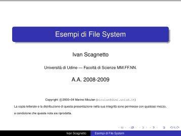 Esempi di File System