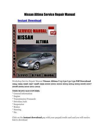 nissan datsun 520 pickup truck service manual fdownload net rh yumpu com nissan sentra service manual pdf nissan sentra service manual