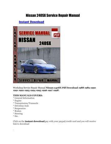 nissan pathfinder 2000 factory service shop repair bit manual rh yumpu com Nissan Serena Manual 1991 Nissan 300ZX Interior