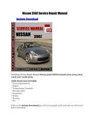 Nissan 350Z Service Repair Manual