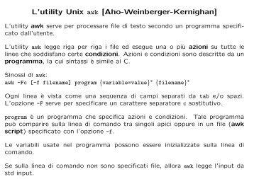 Lucidi in formato PDF - Dipartimento di Matematica e Informatica