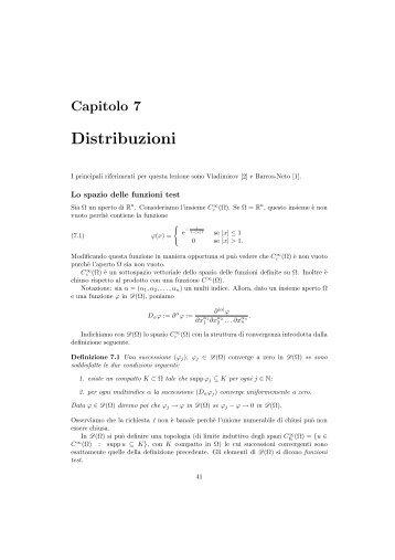 Capitolo 7 - Dipartimento di Matematica e Informatica