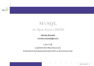 Introduction to MySQL