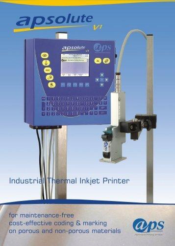 Industrial Thermal Inkjet Printer - aps - Alternative Printing Services