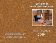 Arkansas Judicial Retirement System Handbook - State of Arkansas