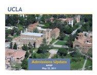 Admissions Update - UCLA APEP
