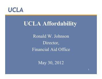 UCLA Affordability - UCLA APEP