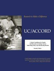 Critical Conditions - UC/ACCORD - UCLA