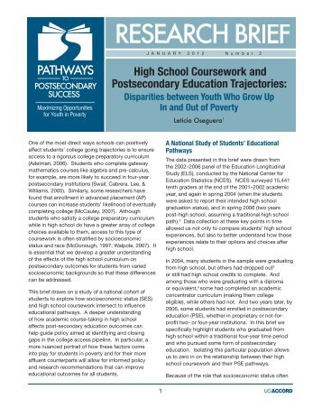 postsecondary coursework This newly developed system of matching cte content with postsecondary coursework fur- report and recommendations regarding postsecondary credit opportunities in.