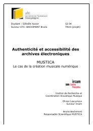 Authenticité et accessibilité des archives électroniques MUSTICA
