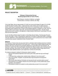 PATHWAYS project description 1 - PATHWAYS to Postsecondary ...