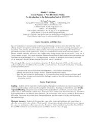 REVISED Syllabus Social Aspects of New Electronic Media ... - uniem