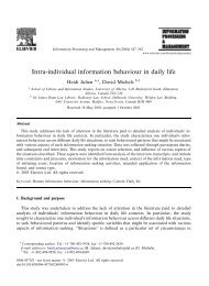 Intra-individual information behaviour in daily life - ResearchGate