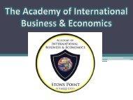 Academy of International Business and Economics