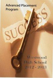 Westwood High School 2012 - 2013
