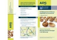 Fortbildungsreihe für Betreuer, Angehörige und Interessierte 1 - APS
