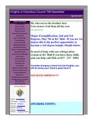 KOC 759 Newsletter April 29, 2011